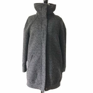 H&M Divided Leopard Printed Winter Warm Coat